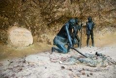 El museo del neanderthal de Krapina Imagenes de archivo
