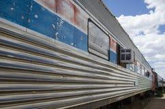 El museo ferroviario del pueblo Imagenes de archivo