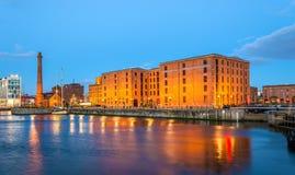 El museo marítimo de Merseyside y la sala de bombas en Liverpool Imagenes de archivo