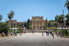El museo Museu de Ipiranga hace Ipiranga y el parque Parque DA Independencia - Sao Paulo, el Brasil de la independencia Fotos de archivo libres de regalías