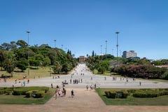 El museo Museu de Ipiranga hace Ipiranga y el parque Parque DA Independencia - Sao Paulo, el Brasil de la independencia Imagenes de archivo