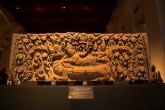 El Museo Nacional Bangkok, viejo Buda de piedra Imagenes de archivo