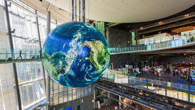 El Museo Nacional de la ciencia emergente en Odaiba Imágenes de archivo libres de regalías