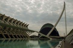 El Museu De Les ciències prÃncipe Felipe, El Pont De l'Assut De l'Or, i agora w Walencja, Hiszpania Zdjęcie Stock