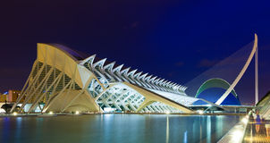 El Museu de les Ciencies Principe Felipe in night  Stock Photos