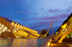 El Museu de les Ciencies Principe Felipe  in summer evening Stock Photos