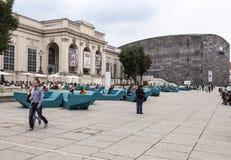 El Museumsquartier Viena Imagenes de archivo