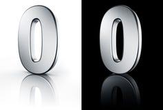 El número 0 en el suelo blanco y negro Imagenes de archivo