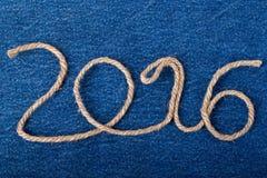 El número 2016 de cuerda en el fondo del frente del je Fotos de archivo libres de regalías