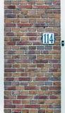 El número de la puerta Fotos de archivo