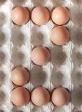 El número dos hizo de los huevos de Pascua Fotos de archivo libres de regalías