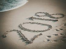 El número 2018 en la playa Fotografía de archivo libre de regalías