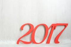 El número 2017 en rojo Foto de archivo libre de regalías