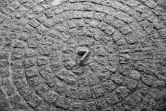 El número místico siete Imágenes de archivo libres de regalías