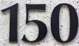 El número 150 fotos de archivo libres de regalías