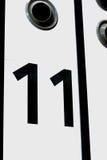 El número once imagenes de archivo