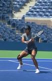 El Na Li del campeón del Grand Slam practica para el US Open 2013 en Arthur Ashe Stadium en Billie Jean King National Tennis Cente Fotos de archivo