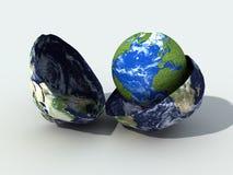 El nacimiento de un nuevo globo Imagenes de archivo