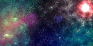 El nacimiento de una estrella en una galaxia próxima ilustración del vector