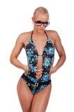 El nadador atractivo está presentando Imagen de archivo libre de regalías
