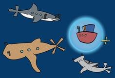 El nadar con los tiburones Imagen de archivo libre de regalías