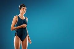 El nadar en estudio Imagen de archivo