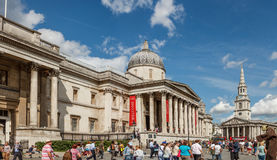 El National Gallery en Trafalgar Square Fotos de archivo libres de regalías