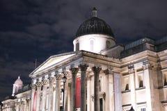 El National Gallery Londres en Trafalgar Square Imagen de archivo