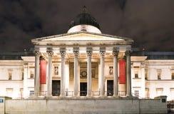El National Gallery Londres en Trafalgar Square Imagen de archivo libre de regalías