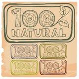 el 100% natural Imagen de archivo libre de regalías
