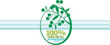 El 100% NATURAL. etiqueta Foto de archivo libre de regalías
