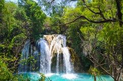 El naturliga Chiflon parkerar, Chiapas, Mexico Maj 25 royaltyfri foto