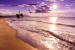 El naufragio famoso cerca de Gythio Grecia fotografía de archivo