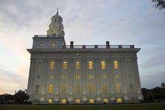 El Nauvo, templo de Illinois LDS Imagen de archivo libre de regalías
