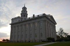 El Nauvoo, templo de Illinois LDS Fotografía de archivo libre de regalías