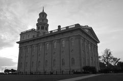 El Nauvoo, templo de Illinois LDS Imagen de archivo libre de regalías