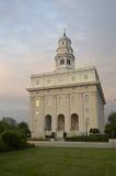 El Nauvoo, templo de Illinois LDS Imagenes de archivo
