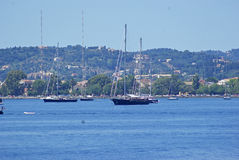 El navegar en la isla de Corfú Fotografía de archivo