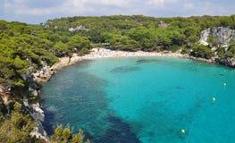 El navegar y navegación en Menorca Balearic Island Foto de archivo libre de regalías