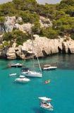 El navegar y navegación en Menorca Balearic Island Imagen de archivo libre de regalías