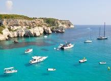 El navegar y navegación en Menorca Balearic Island Imagenes de archivo