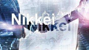 El ?ndice medio com?n de Nikkei 225 Concepto econ?mico del negocio financiero foto de archivo