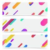 El neón minimalistic de moda brillante alinea la colección abstracta de las tarjetas Fotografía de archivo libre de regalías