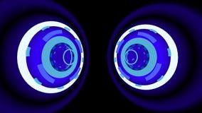 El neón rueda el fondo, ejemplo 3d Imagen de archivo libre de regalías