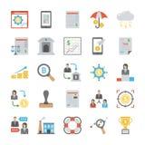 El negocio coloreó iconos del vector fijados libre illustration