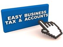 El negocio considera impuesto Imagen de archivo libre de regalías
