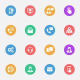 El negocio de la comunicación, consejo, vector el mejor icono plano stock de ilustración