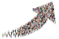 El negocio del éxito del grupo de personas mejora comienzo acertado del crecimiento
