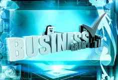 el negocio del pingüino 3d crece concepto Foto de archivo