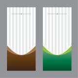 El negocio determinado del diseño de tarjeta del fondo del vector curvó marrón linear del color Foto de archivo